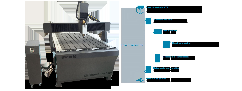 Fresadora CNC de formato medio