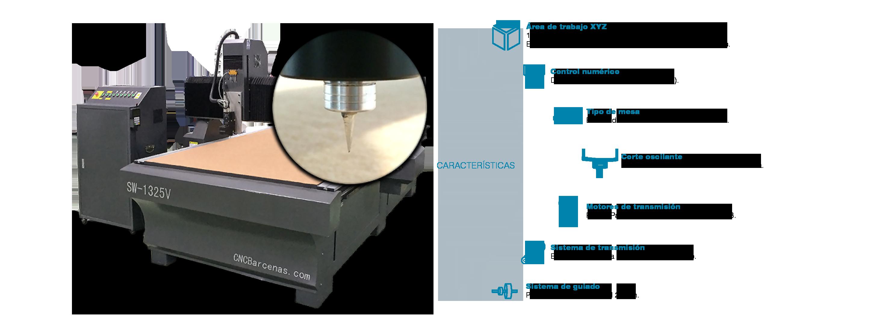 Accesorio fresadora CNC cuchilla de corte oscilante para papel cartón